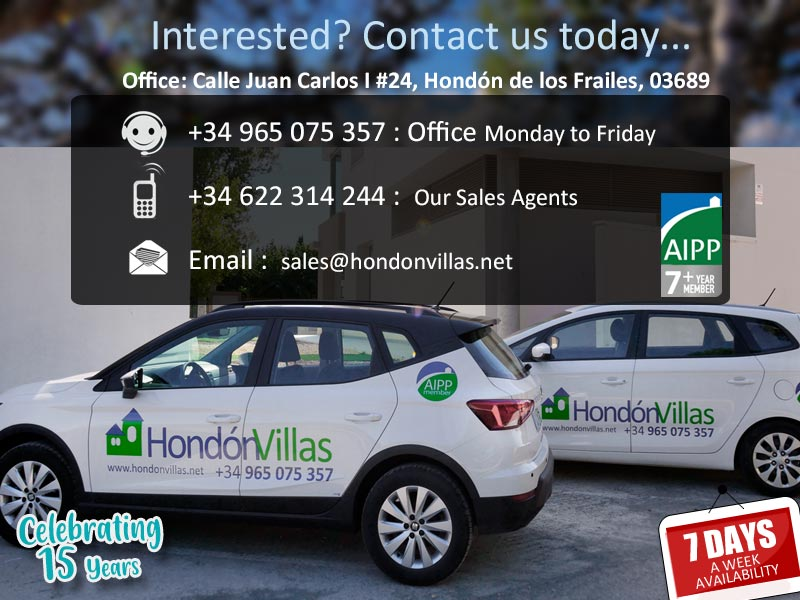 ©2020 Contact Hondon Villas Estate Agent, Hondon Valley